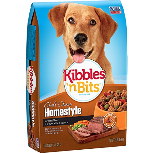 Kibbles 'n Bits Homestyle Beef & Vegetable Flavors Dry Dog Food, 3.5-Pound (Pack of 6)