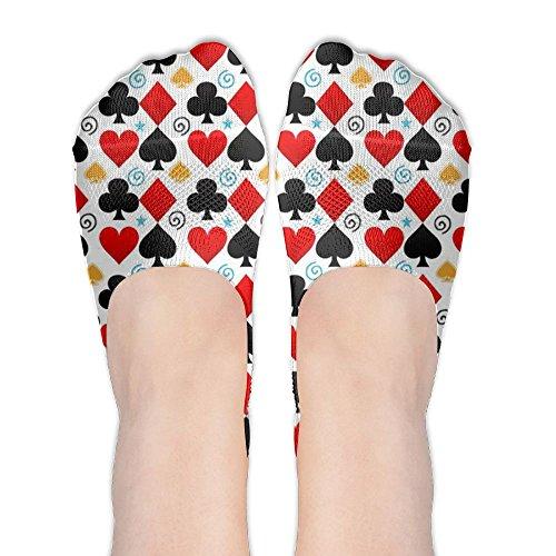 Poker Polyester Cotton Soft For Women Anti-Slip Flat Boat Line Low Cut Sand Socks