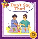 Don't Say That!, Janine Amos, 0836836065