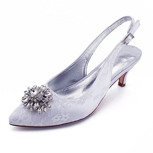 la fermé Court Mesdames Stilettos Bout Zxstz Chaussures Slip à mi on blanc Talons Slingback Sandales Cheville Boucles Sangle PwCxqqd8