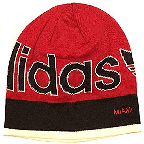 NBA Adidas Miami Heat Cuffless KC73 Knit Beanie Toque Skully Skull Red HWC Hat