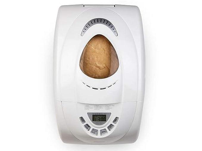 Panificadora con temporizador de 13 horas, incluye molde de repuesto, función para mantener el calor y 12 programas, hornear pan de 750 a 1000 g sin gluten.