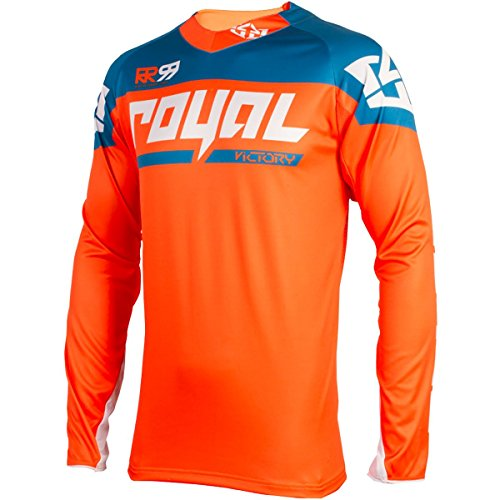 Royal Racing Victory Race Long-Sleeve Jersey - Men's Orange/Diesel, -