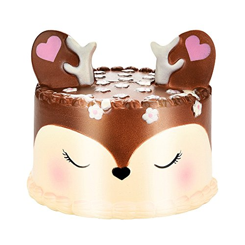 Serzul Squishies 10CM Squishy Jumbo Deer Cake Slow Rising Scented Squeeze Toy Collection Cure Gift