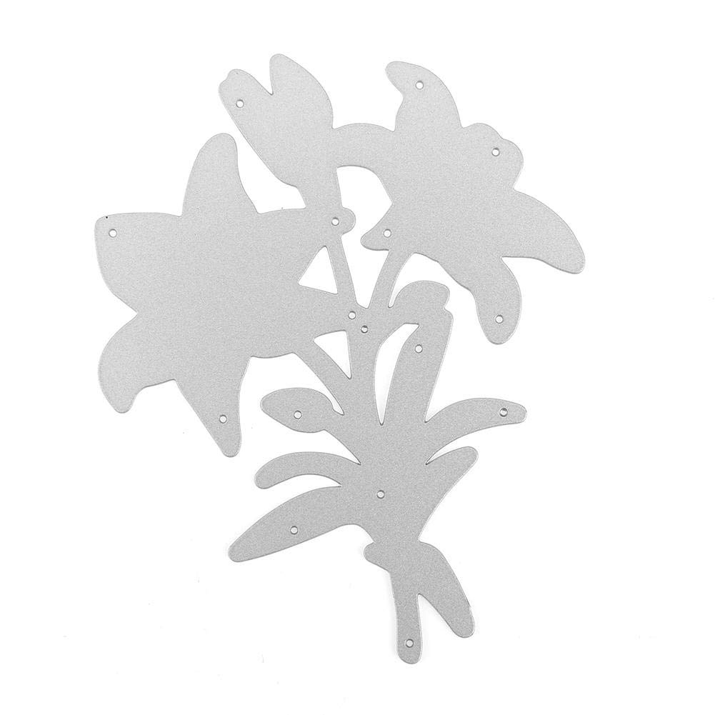 Mikolot Metal Cutting Dies Stencils Flower Embossing Template for DIY Scrapbook Photo Album Card Making Orchid