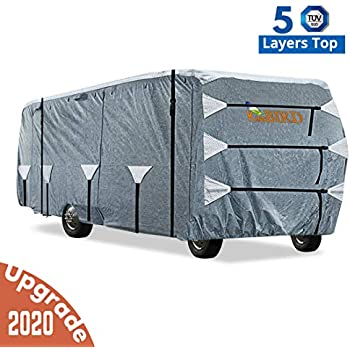 ADCO 34826 Designer Series Gray//White 34 1-37 Dupont Tyvek Class A Motorhome Cover