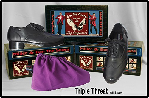 Miller & Ben Tapschoenen Triple Threat; Helemaal Zwart - Standaardmaten