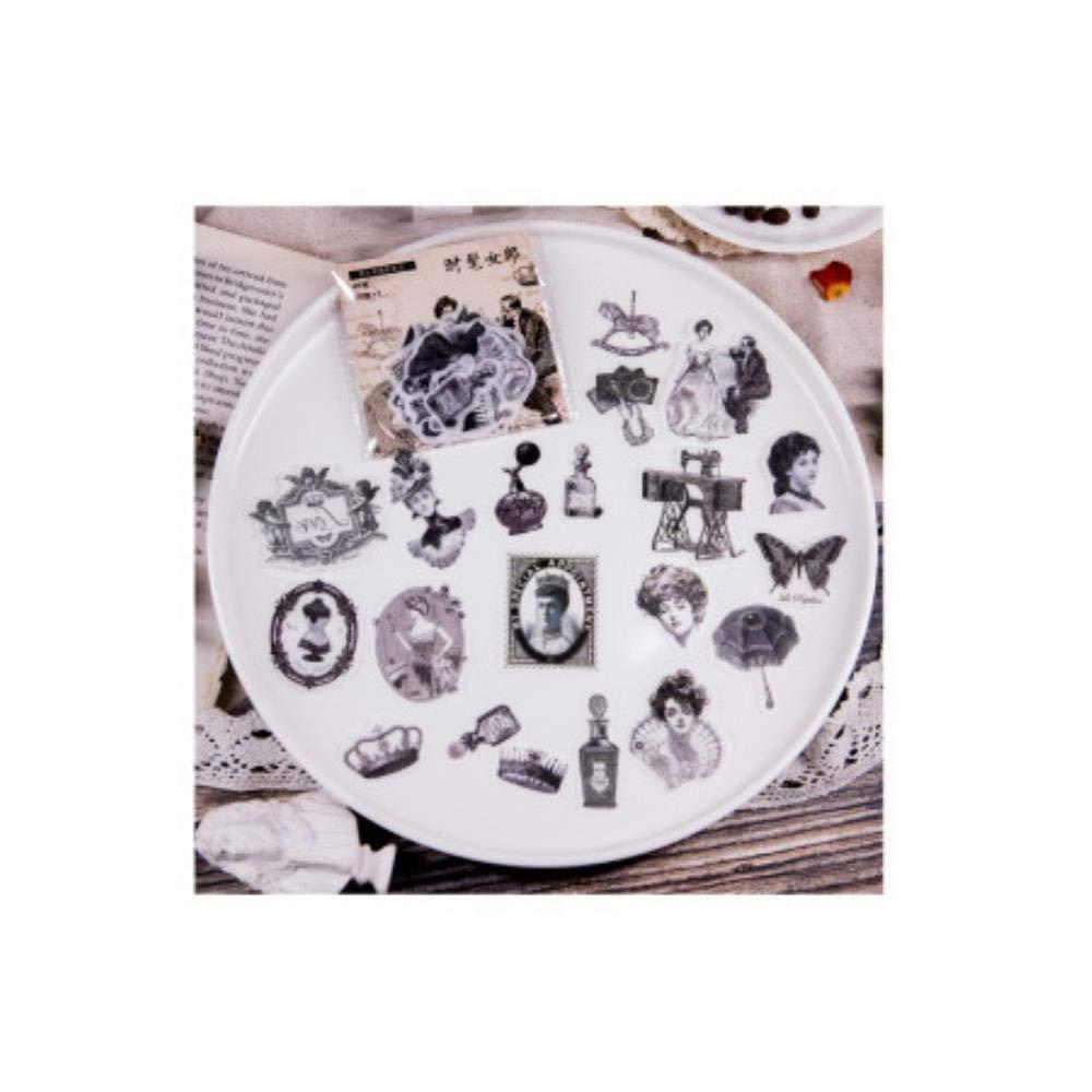 A LASISZ 40 Unids//Lote Pegatinas Retro Vintage Retro Christmas Manor Antigua Grecia /Ángel DIY Planificador Libro Material Scrapbooking Sticker