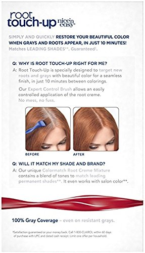 3 Pk. Clairol Nice 'n Easy Root Touch-Up Permanent Hair Color 6RR Intense Red
