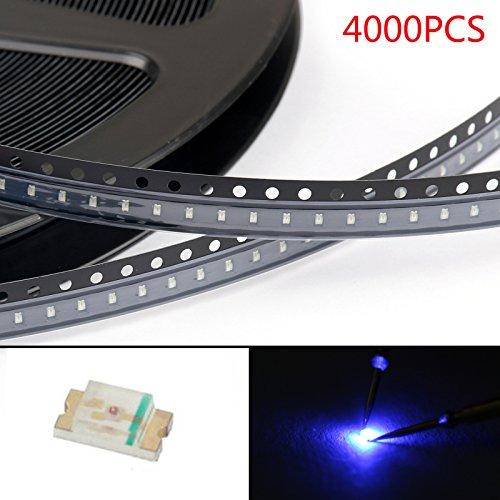 Areyourshop 4000Pcs 0603 (1608) Blue Light SMD SMT LED Lamp Diodes Emitting Super Bright New