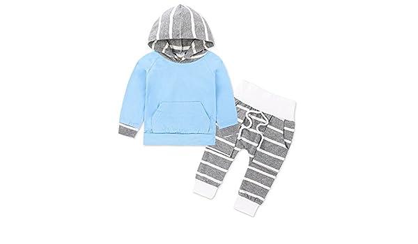 feiXIANG Bebé niño niña niño Traje de Navidad Conjunto niño recién Nacido a Rayas con Capucha suéter Traje Unisex Ropa Casual: Amazon.es: Electrónica
