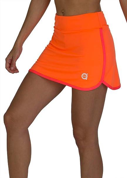 a40grados Sport & Style, Falda Fluss Naranja, Mujer, Tenis y ...