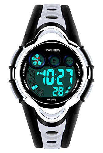 Waterproof Boys/Girls/Kids/Childrens Digital Sports Watches for 5-12 Years Old (Grey)
