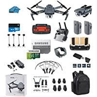 DJI Mavic PRO Portable Collapsible Mini Drone with 2 Total Batteries, + 64GB SD Card + Range Extender, Lens Hood, Reader, Landing Gear, Stick Protector, Prop Guards, Waterproof Backpack