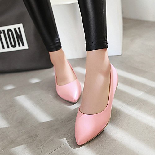 Pumps Low Inside Toe Wedges Flats Pointed Pink Womens Casual Latasa x4R7qO4