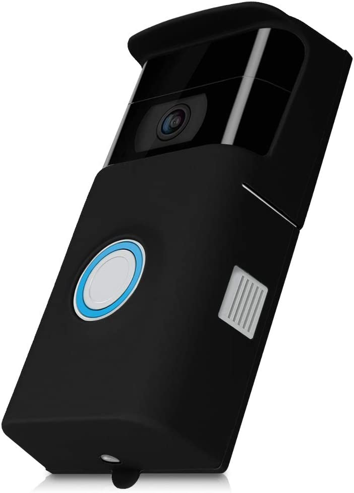 kwmobile Case Compatible with Ring Video Doorbell 2 (2nd Gen) - Protective Silicone Cover Black