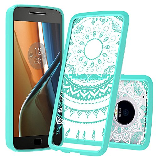 Price comparison product image Moto G5 Plus Case, Motorola Moto G5 Plus Phone Cases ,AnoKe Mandala Flower Cute Girls Women Ultra Thin Slim Fit Hard Cover TPU Bumper Phone Cover Cases for Motorola Moto G5 XT1687 Unlocked TM CH Mint