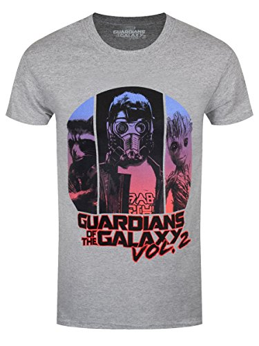 Guardians Of The Galaxy Herren T-Shirt Threes Up Blend grau