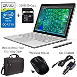 Microsoft Surface Book 128GB Intel i5 Bundle (Surface Carrying Case + 2.4G Wireless Optical Mouse + 32GB SD Memory Card + Car Charger Adapter + DigitalAndMore Microfiber Display Cleaning Cloth)