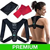 Posture Corrector for Men & Women – Thoracic Back Brace for Perfect Posture – Adjustable and Comfortable Clavicle Support |FDA APPROVED| - Resistance Band & Bag INCLUDED by moldAP