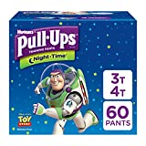 Pull-Ups Night-Time, 3T-4T (32-40 lb.), 60 Ct., Potty Training Pants for Boys, Disposable Potty Training Pants for Toddler Boys (Packaging May Vary)