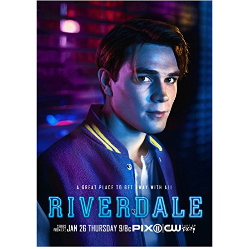 Apa Window - K.J. Apa 8 inch x 10 inch PHOTOGRAPH Riverdale (TV Series 2017 - ) Looking Right w/Window in Background Title at Bottom kn