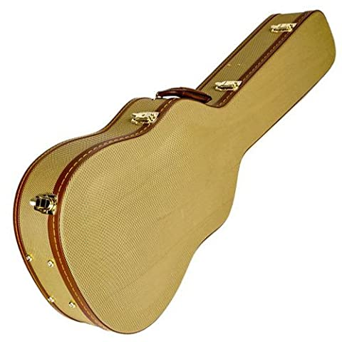 Fender Arch-Top Dreadnought Acoustic Guitar Case, Tweed (Classical Guitar Case Tweed)
