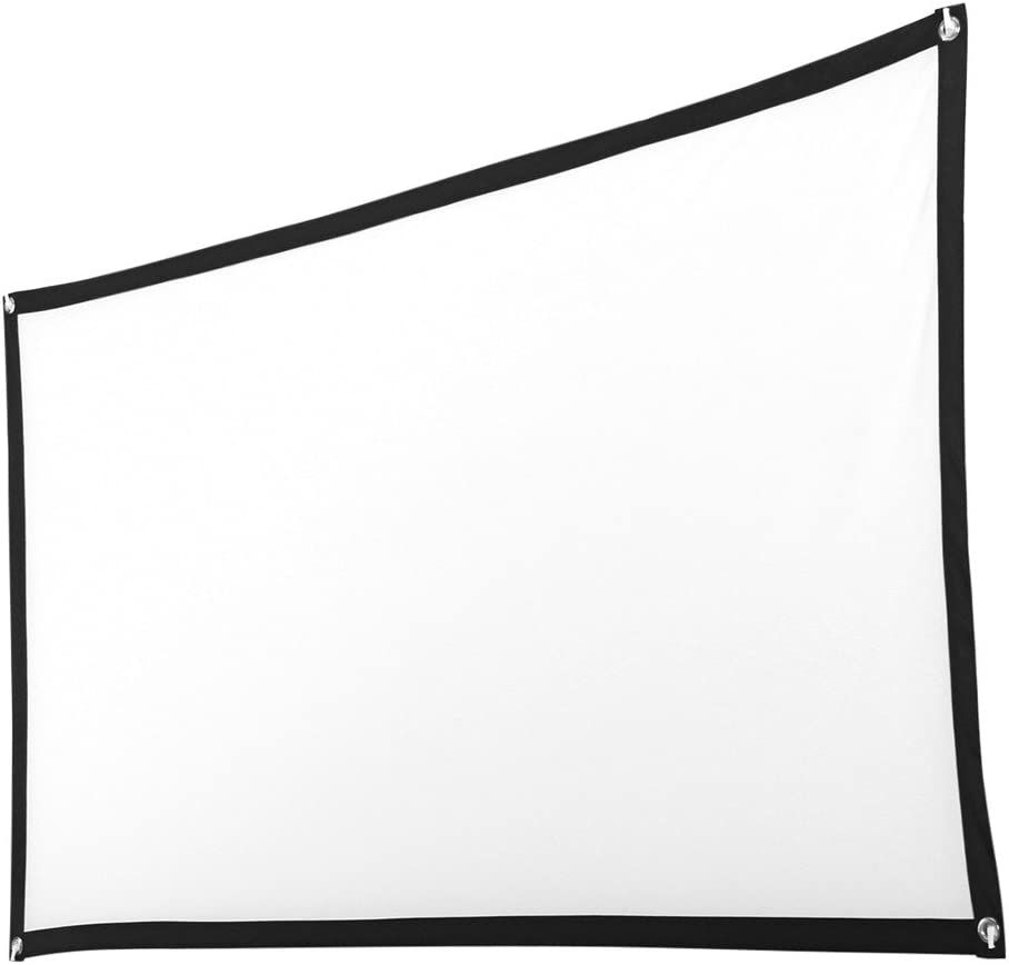 callm HD Projector Screen, 16:9 Portable Indoor Outdoor Folding Projector Screen Theater Screen for Home Cinema Movie, Education Office Presentations, Camping Home Theater