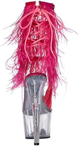 c Clr Ado1017mff h b Pleaser c Ankle Clr Bootie Pink Marabou Women's gltr qOx0wxBaI6
