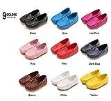 #6: LONSOEN Toddler/Little Kid Boys Girls Soft Synthetic Leather Loafer Slip-on Boat-Dress Shoes/Sneakers