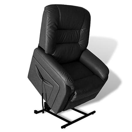 Relax Tv Fauteuils.2 Positions Fauteuil Relax Tv Electrique Noir Amazon Co Uk