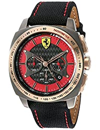 Ferrari Men's 830294 'Aero EVO' Quartz Resin and Nylon Watch