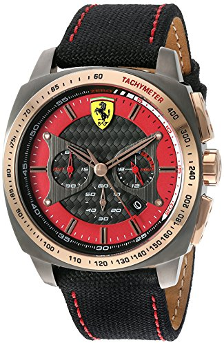 Ferrari 830294 'AERO EVO' Quartz Resin and Nylon Watch