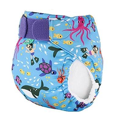 Tots Bots Reusable Cloth Swim Diaper, Under the Sea - Size 1 (10-20lbs)