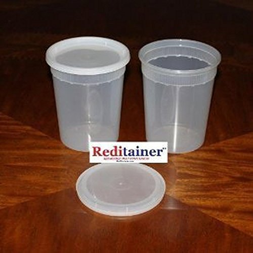 - Reditainer Deli Food Storage Containers with Lid, 32-Ounce, 24-Pack
