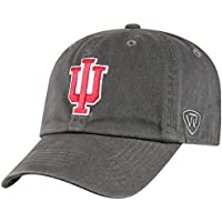 Top of the World NCAA Men's Adjustable Relaxed Fit Charcoal Icon Hat, Charcoal
