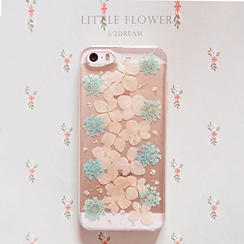 arrives 71ec7 3e141 Rebbygena Real Flower Case for iPhone 5s Pressed Flower iPhone SE Case and  Cover Custom Pressed Dried Flower iPhone 5/SE Case Cover Transparent ...