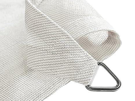 Kookaburra Breathable Party Sun Sail Shade Canopy 2m Square 90/% UV Block Ivory