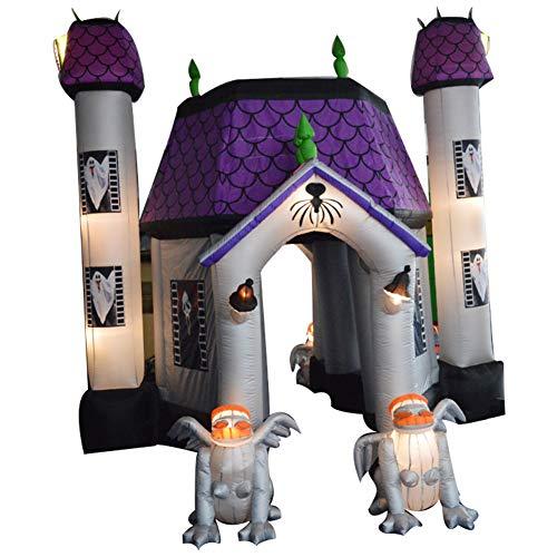 Sayok 15ft Tall Inflatable Halloween Haunted House with Inflatable Gargoyle with Lightings Yard Decoration]()