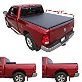 Galaxy Auto Soft Tri-Fold for 2010-19 Dodge Ram 5.7' Bed (Fleetside Models Only) - Black Trifold Truck Bed Tonneau Cover