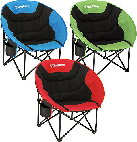 KingCamp Moon Leisure Camping Chair with/without Cup Holder Steel Frame...