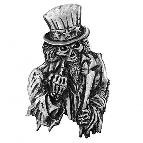 Uncle Sam Poster Biker Harley Rider Mc Jacket Vest hat Biker Pin (Uncle Jacket Biker Sam)
