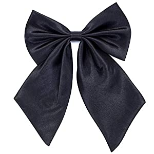Ladies Girl Bowknot Bow Tie – Adjustable Pre-tied Solid Color Handmade Bowties for Women Costume Accessory