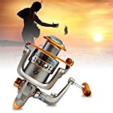 Tmalltide Full Aluminum Fishing Spin Reel 5.2:1 Fishing Reel Fishing Spinner