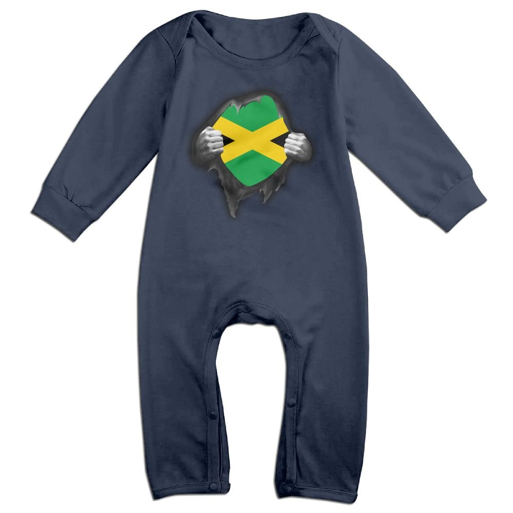 Mri-le1 Baby Boy Coverall Jamaica Flag Proud Baby Rompers