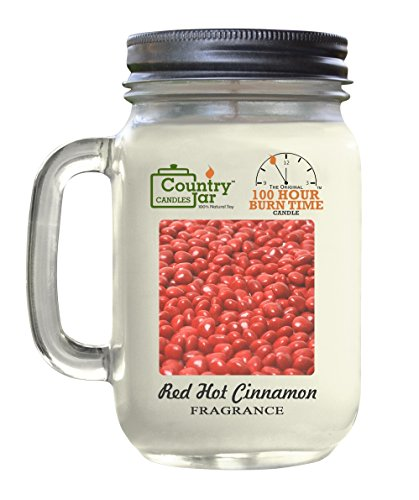 Country Jar RED HOT CINNAMON Natural Soy Candle MC JAR New Years Sale! 3 for $33! Mix or Match Scents