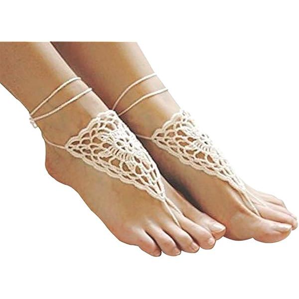 Brown Sugar Crochet Barefoot Sandals Brown Ombr\u00e9 Barefoot Shoes Bachelorette Beach Party Gift Brown Beach Sandals Boho Crochet Sandals
