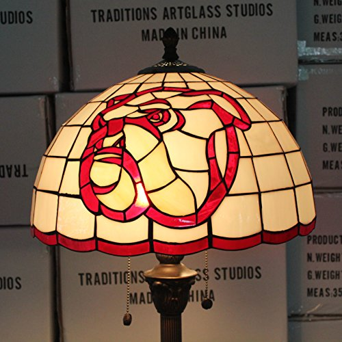 Royal- 16-inch NCAA Mississippi St. Bulldogs Stained Glass Floor Lamp