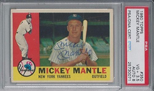Pic of Autographed Mickey Mantle Baseball Cards