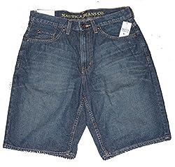 Nautica Men's Denim Shorts (30, Lakeside Blue)
